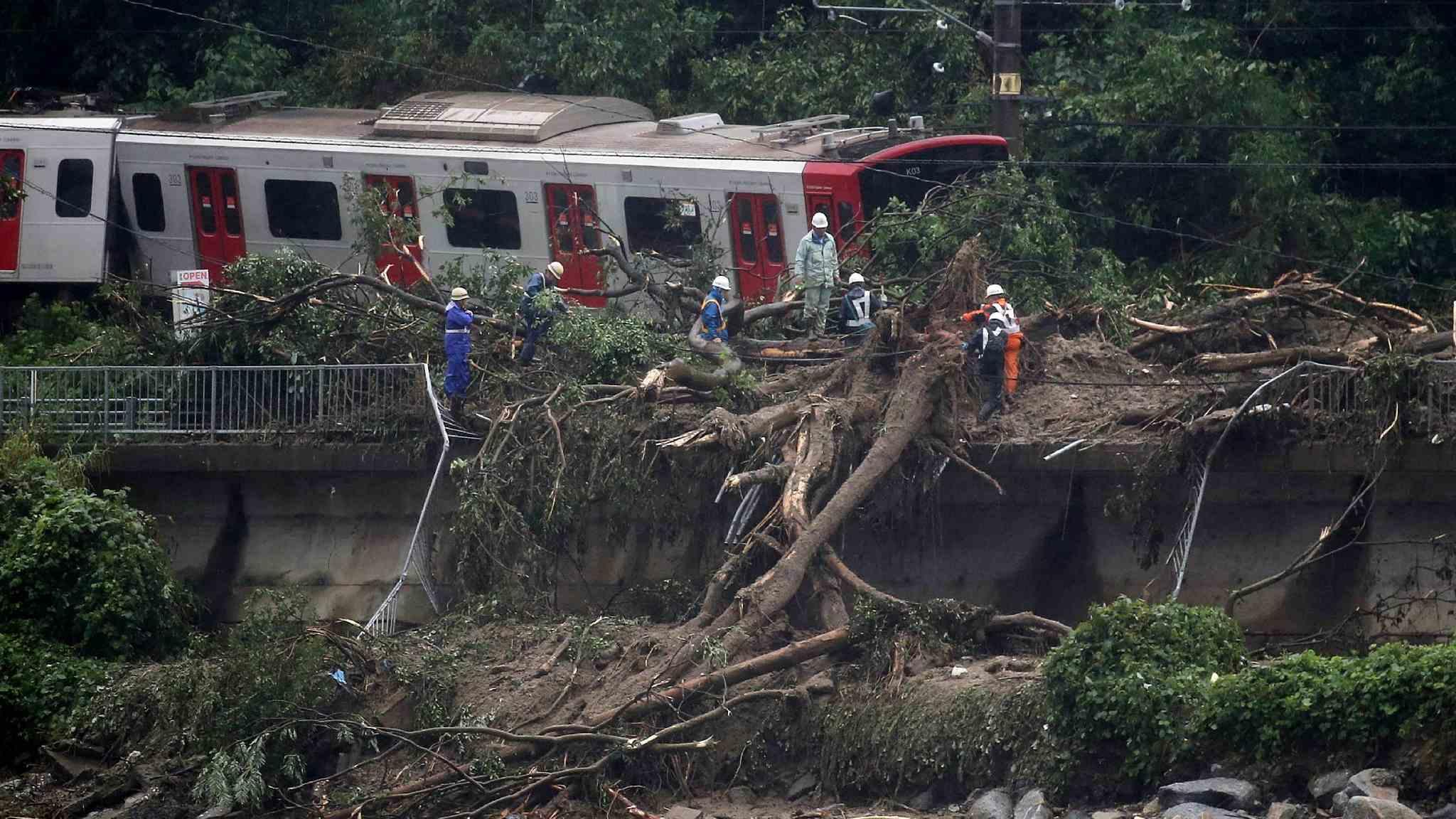 Historical rain hits Japan, killing at least 85 people