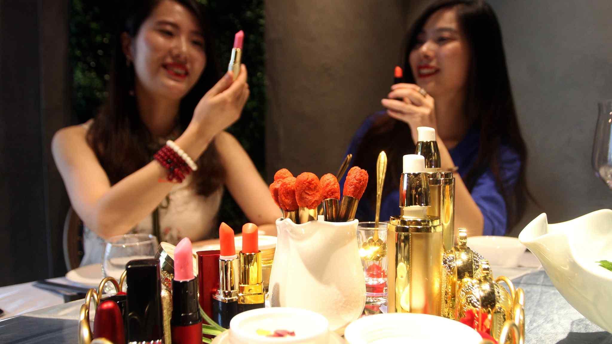 "Edible ""beauty"": Yummy ""cosmetics"" you can eat in Xi'an restaurant"