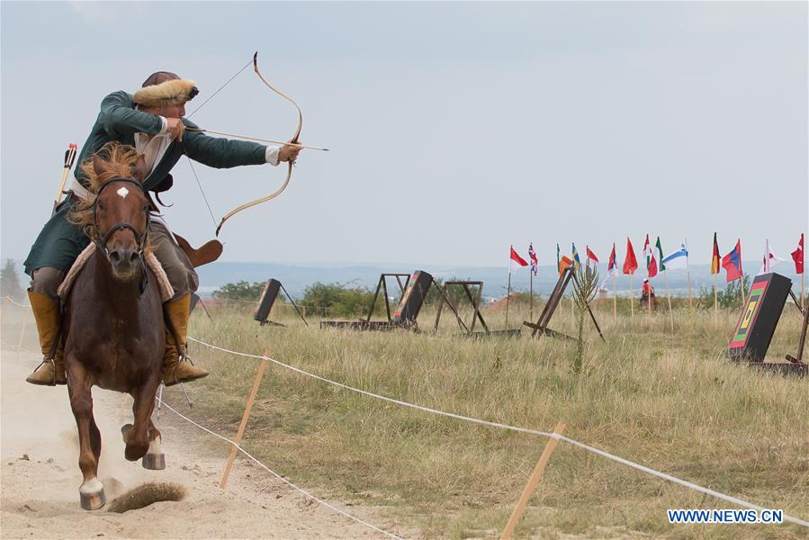 First Horseback Archery Open World Championships held in Pomaz, Hungary