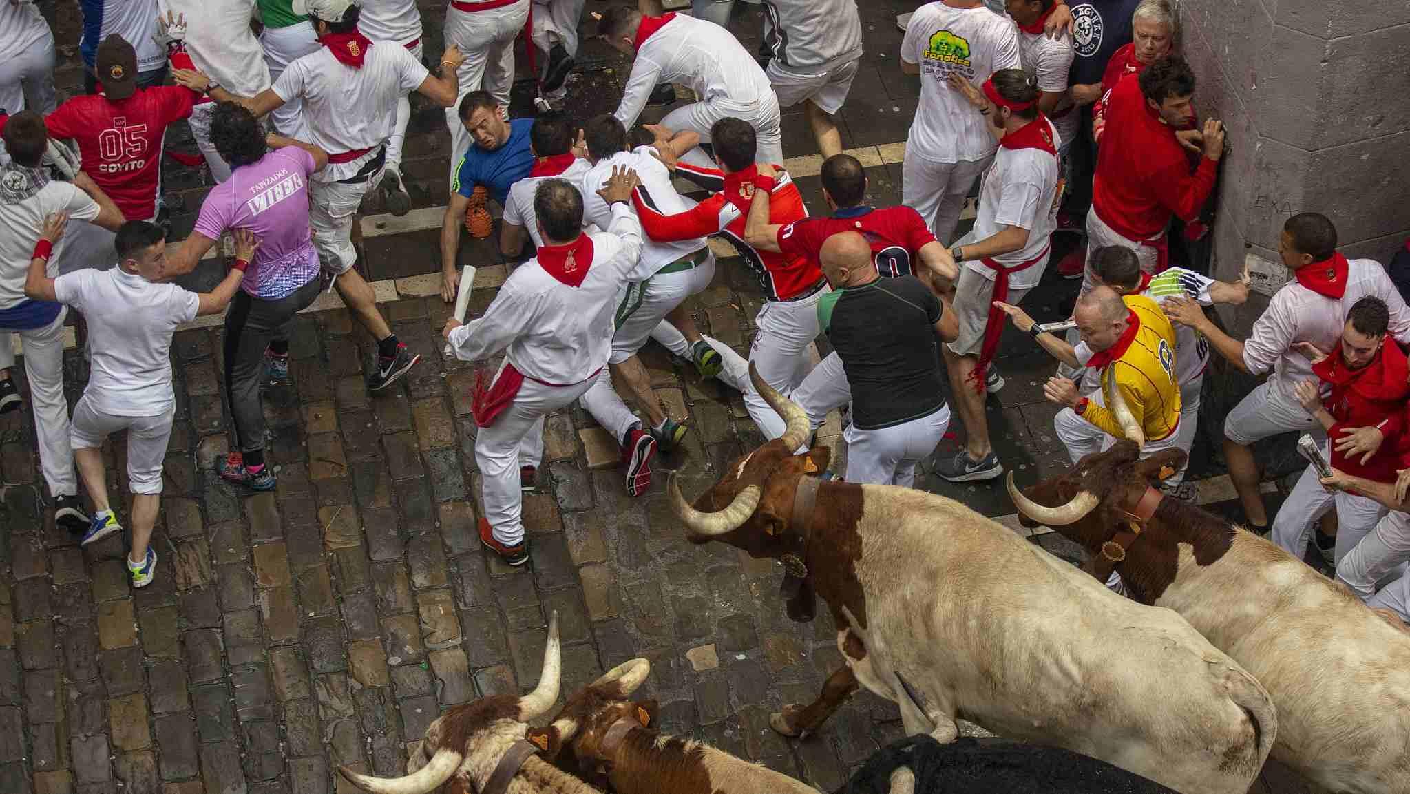 Spain's San Fermin festival bull running injures five