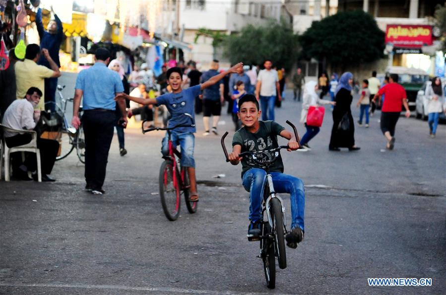 Daily life of Syrians in capital city of Daraa province