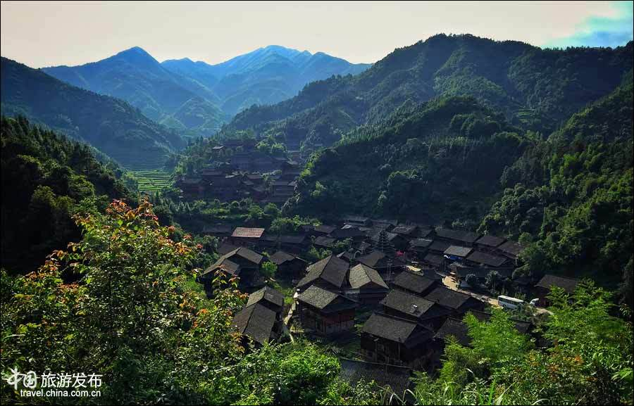 Yutou ethnic Dong village in China's Hunan