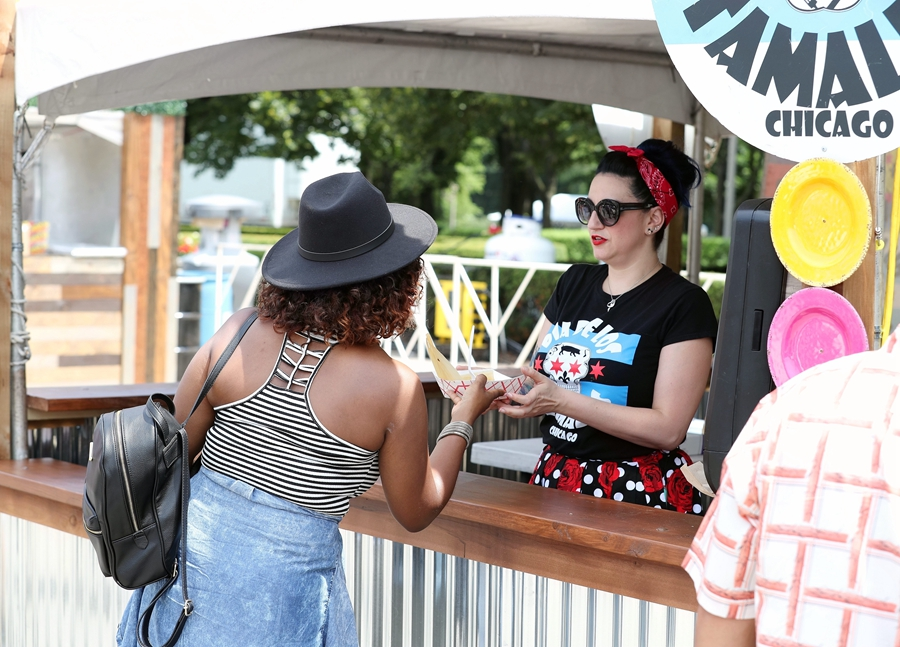2018 Taste of Chicago held at Grant Park in Chicago, US