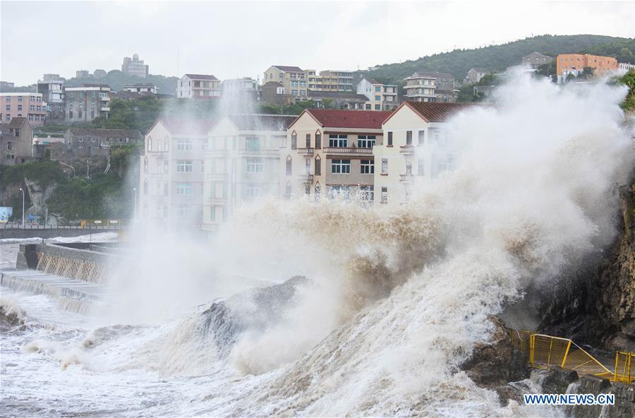 Typhoon Maria makes landfall in east China's Fujian