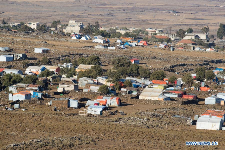 In pics: refugee camps near cease fire line between Syria and Israel