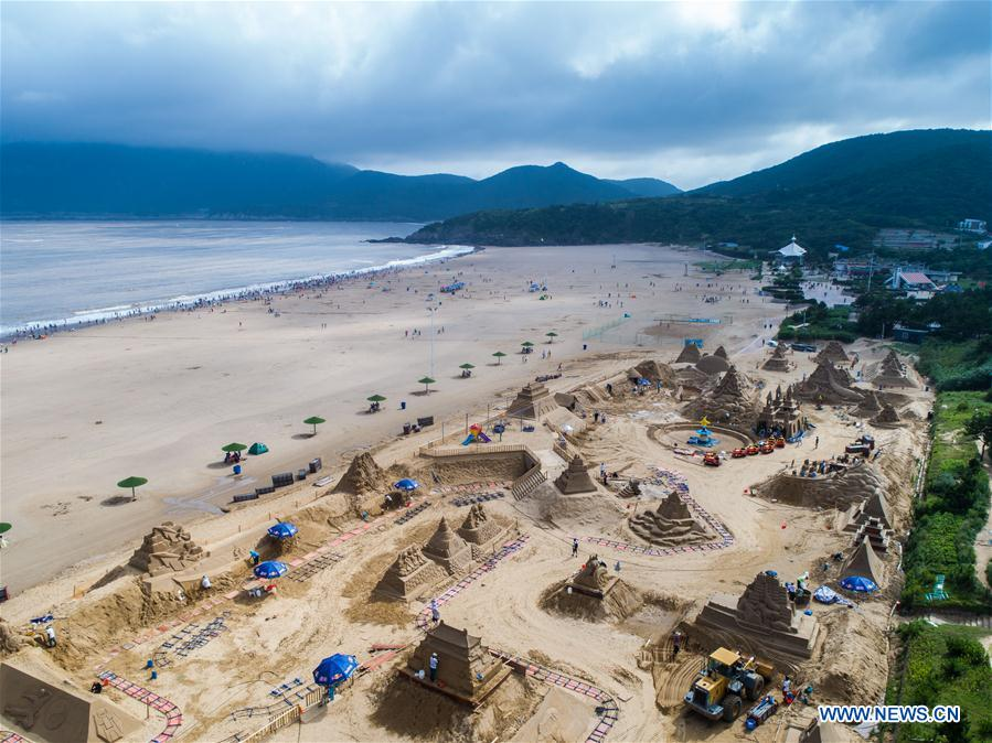 2018 Zhoushan Int'l Sand Sculpture Festival to kick off in E China's Zhejiang
