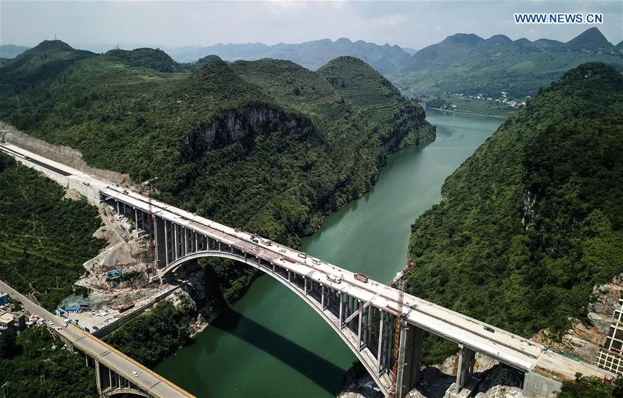 Construction of Yelanghu Bridge in Guizhou expected to wrap up by end of July