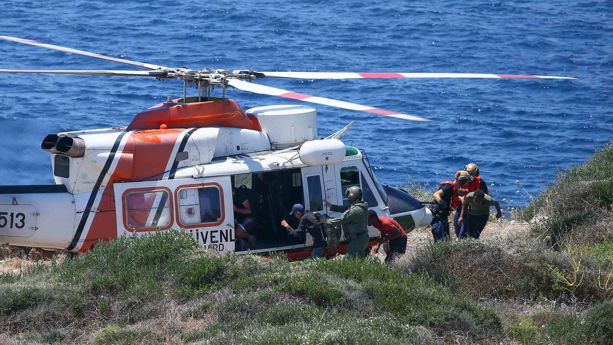 34 stranded migrants rescued by Turkish Coast Guard