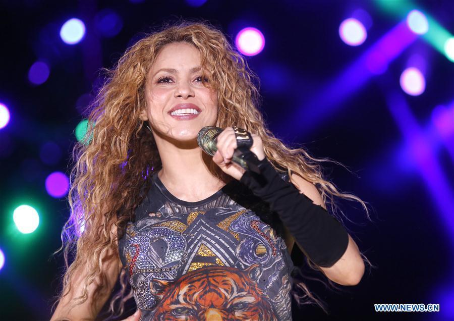 Pop star Shakira performs during Cedars Int'l Festival in Ariz, Lebanon