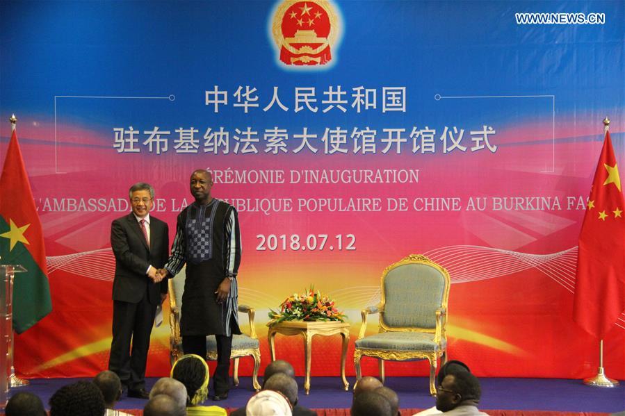 BURKINA FASO-OUAGADOUGOU-CHINA-HU CHUNHUA-VISIT
