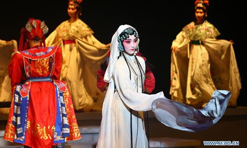 College students perform Kunqu Opera 'the Peony Pavilion' in Tianjin, N China
