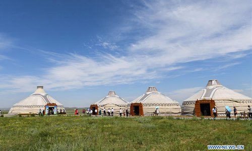 Trollius festival opens on Jinlianchuan Prairie, China's Inner Mongolia