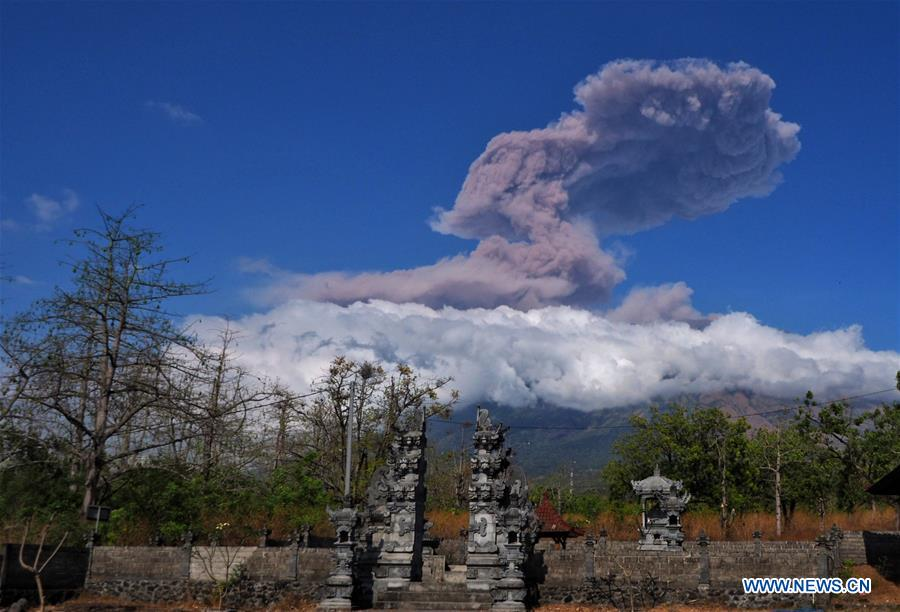 Mount Agung erupts in Indonesia