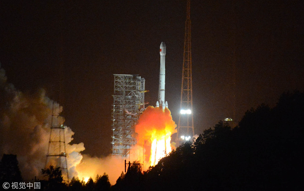 China's lunar probe Chang'e-3 is launched from the Xichang Satellite Launch Center in Sichuan Province on December 2, 2013. [File photo: VCG]