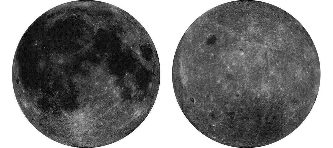 Orthographic projection diagrams of the moon taken by Chang'e-2 [File photo: State Administration of Science, Technology and Industry for National Defence]