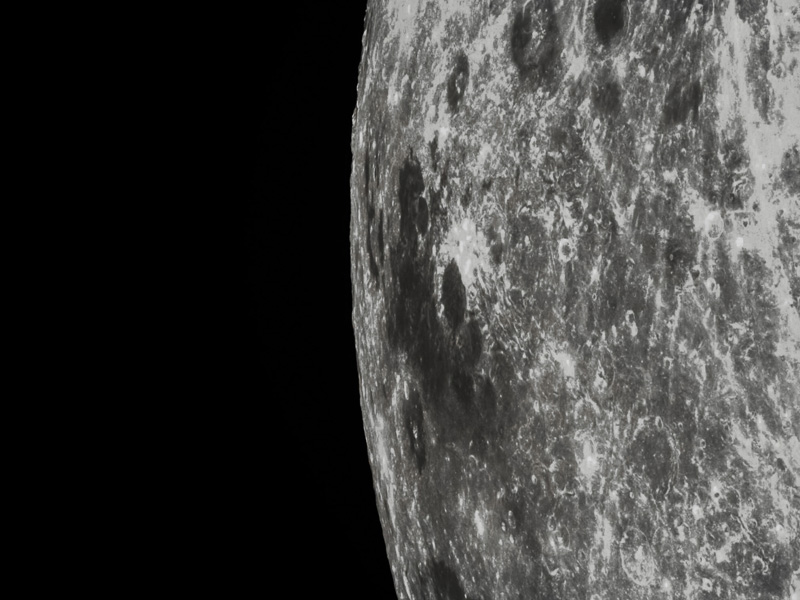 The photo of part of the Moon taken by the Chang'e 5 test vehicle service module [File photo: China National Space Administration]