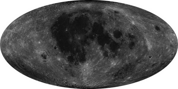 The complete high-resolution map of the Moon taken by Chang'e 2, released on February 6, 2012. [File photo: State Administration of Science, Technology and Industry for National Defence]