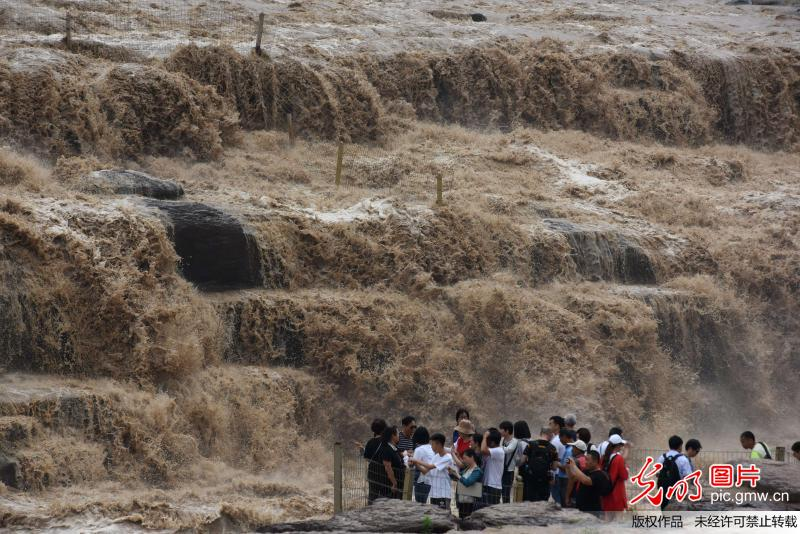 Yellow River's Hukou Waterfall attracts tourists