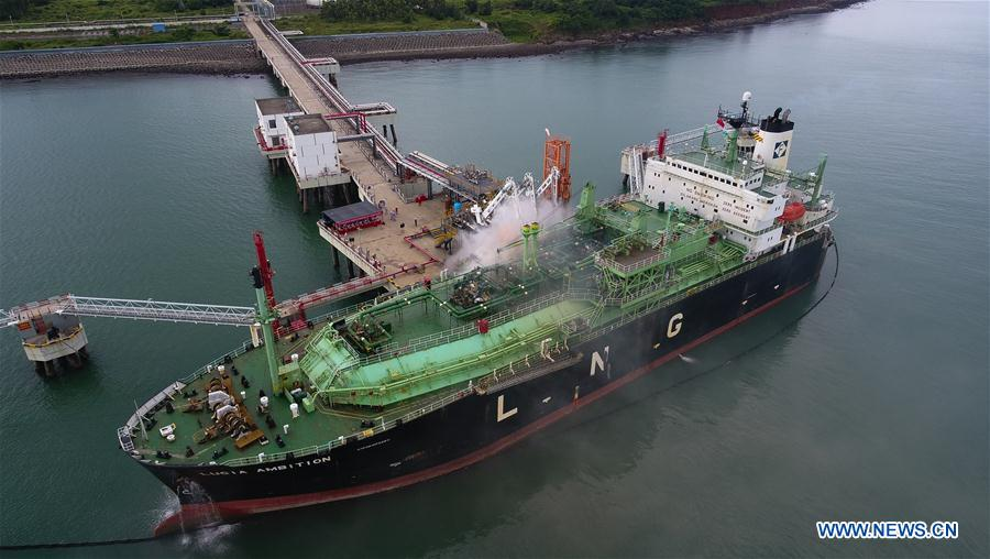 LNG carrier rescue drill held in S China's Hainan