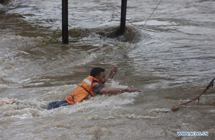 In pics: flash flood on outskirts of Srinagar, Indian-controlled Kashmir