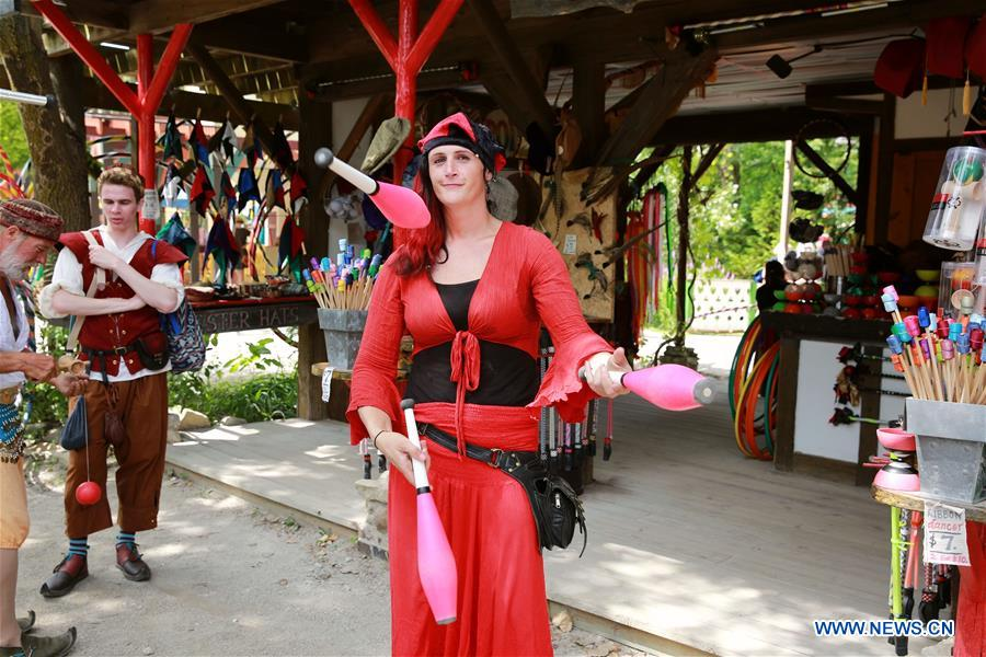 People participate in Renaissance fair at Kenosha, United States