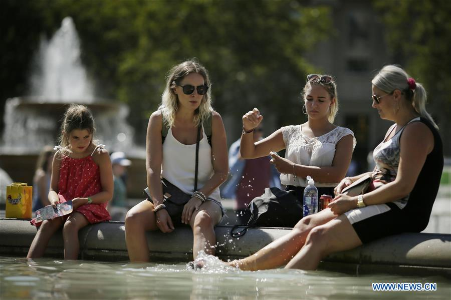 Britain experiencing high temperatures as heatwave continues across Europe