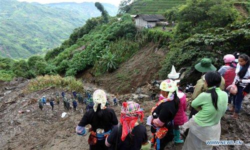 Heavy rain causes landslides in Vietnam's northern Lai Chau province