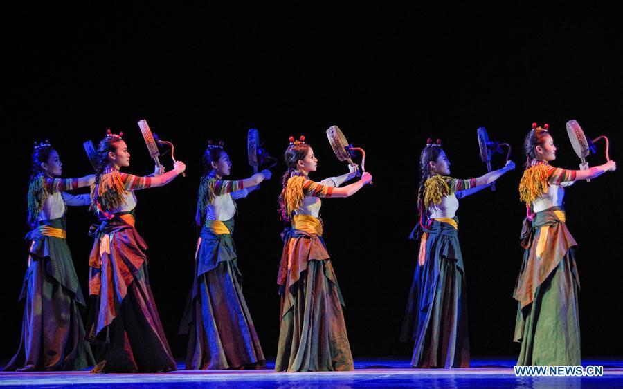 Dancers from Beijing Dance Academy perform in Tibet