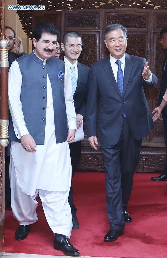 China's top political advisor meets Pakistan's Senate chairman