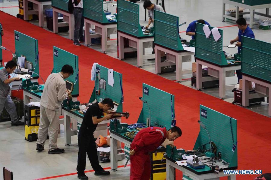 National vocational skills contest held in Nanjing, E China's Jiangsu