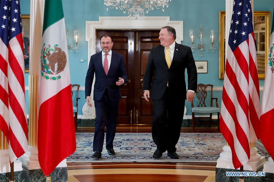 U.S. secretary of state meets with Mexican FM in Washington D.C.