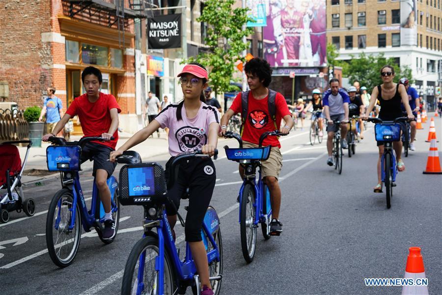 """2018 Summer Streets event"" held in Manhattan, New York"