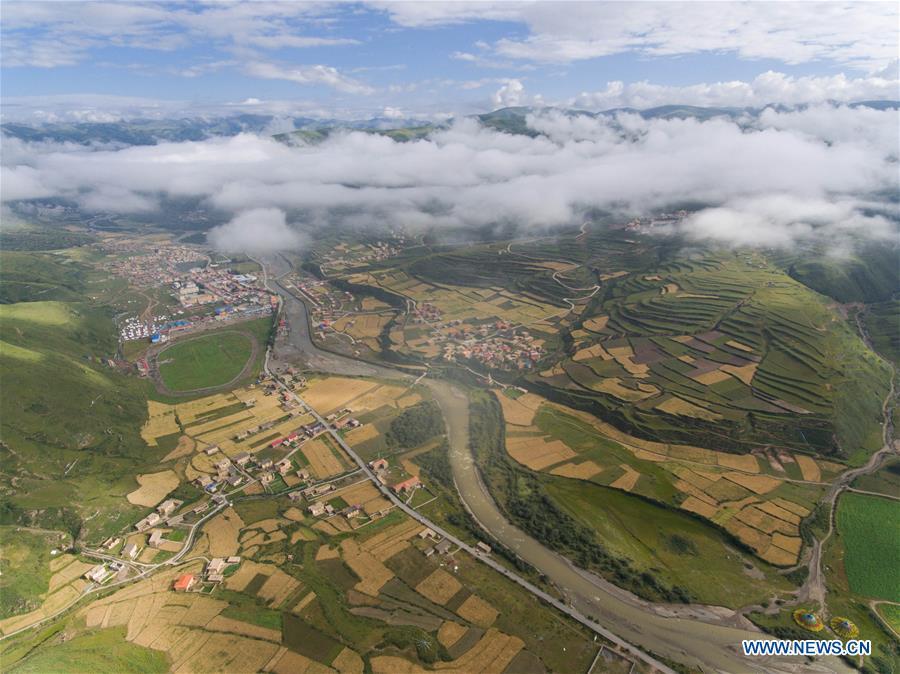 Scenery of Zequ river in China's Sichuan