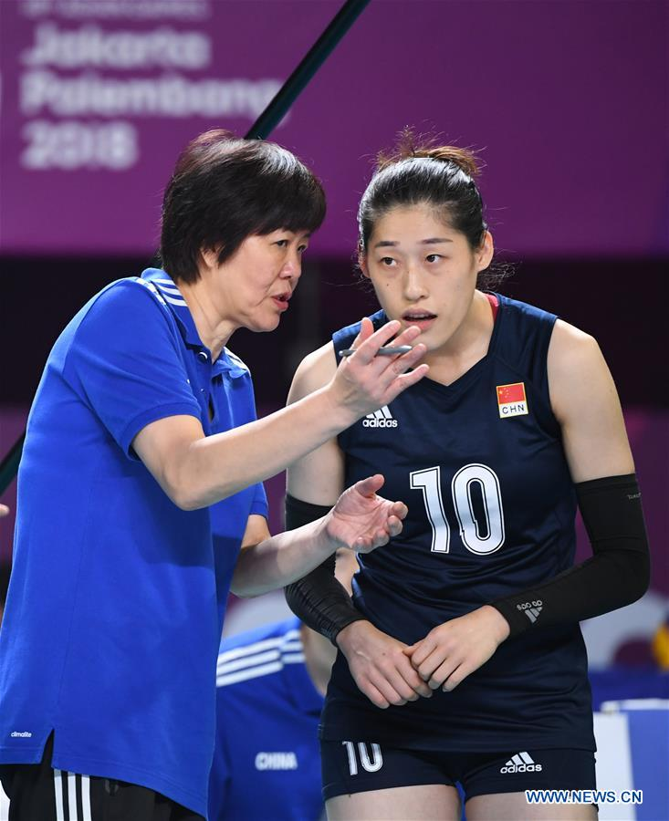 Women's Volleyball Pool B match between China and Chinese Taipei held at 18th Asian Games