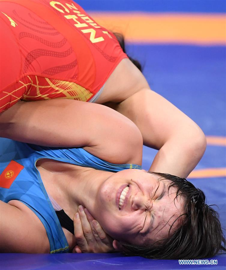 In pics: Women's Wrestling Freestyle 68 kg semifinal at 18th Asian Games