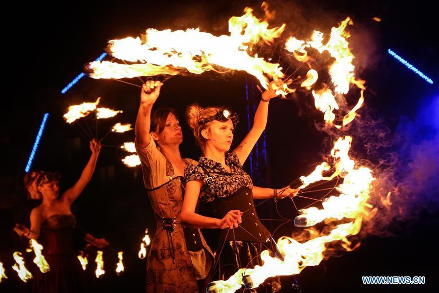 13th Polish Fire Festival held in Ostroda, Poland