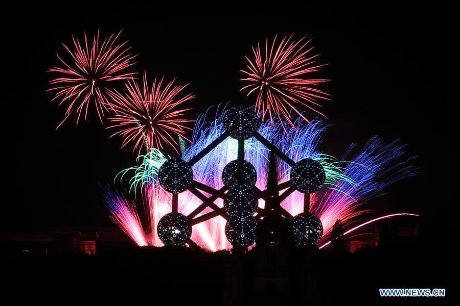 Highlights of Laeken Fireworks 2018 in Brussels, Belgium
