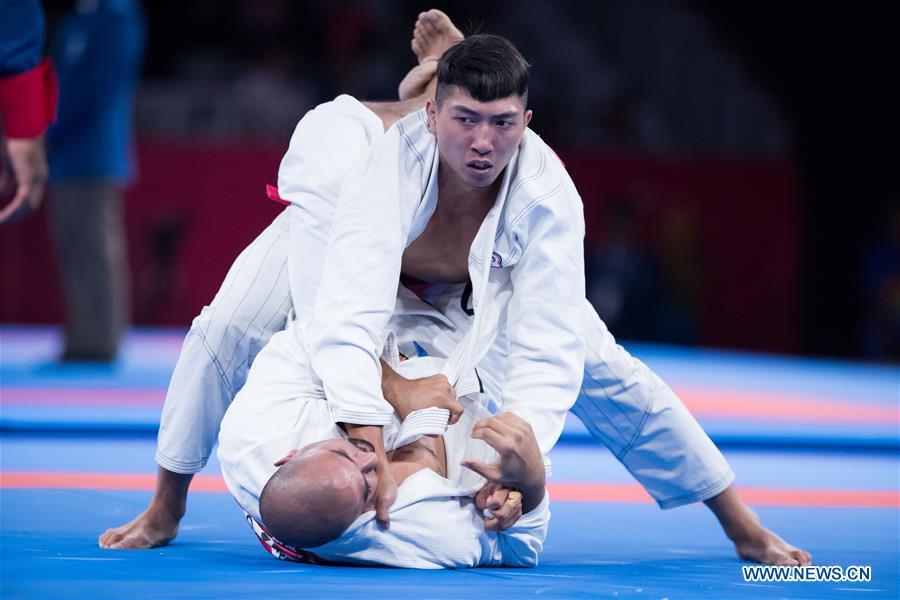 Highlights of Ju-Jitsu Newaza Men's 94 kg 1/16 Final contest at 18th Asian Games