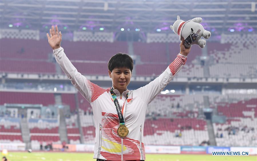 Awarding ceremonies at Asian Games 2018 in Jakarta