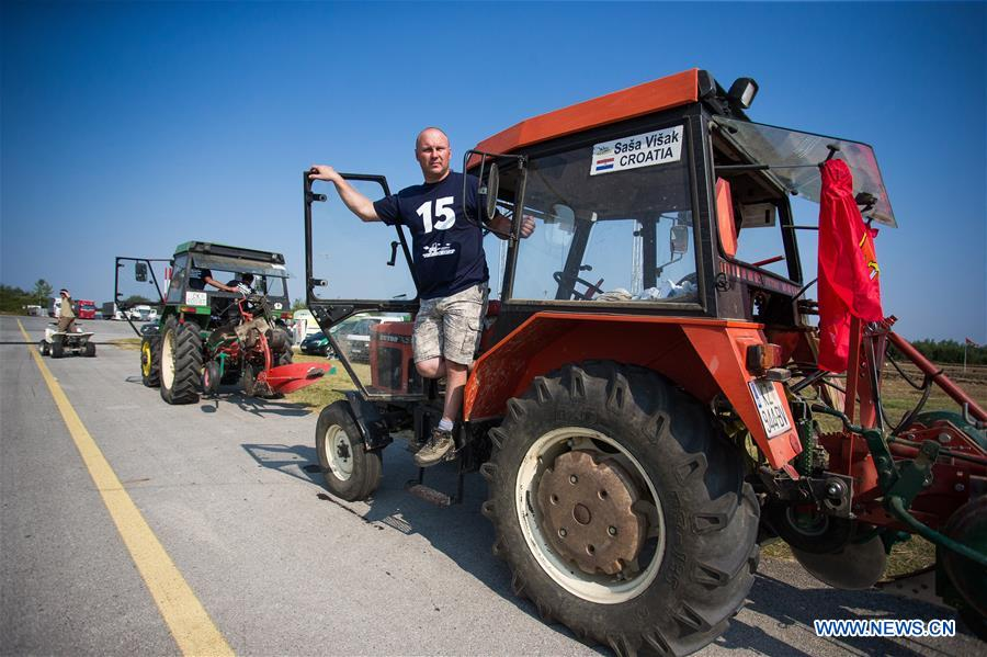 Farmers prepare for tillage competition in Osijek, Croatia