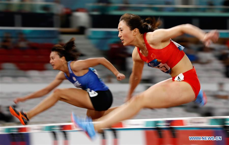 In pics: women's 100m hurdles qualification at Asian Games 2018