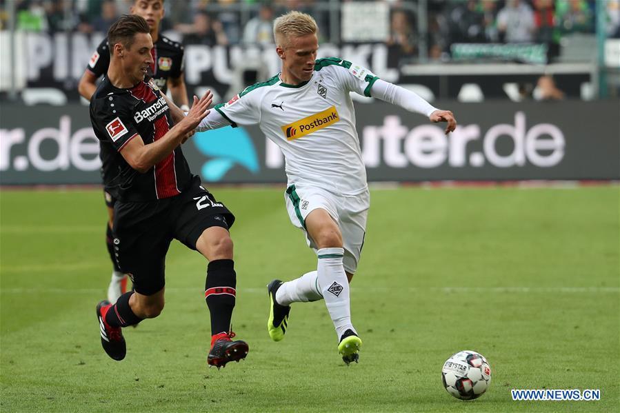 Borussia Moenchengladbach beats Bayer 04 Leverkusen 2-0 in Bundesliga