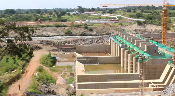 The construction site of Karuma Hydroelectric Power Plant, the largest hydro power plant in Uganda, financed by China. [Photo: China Plus]
