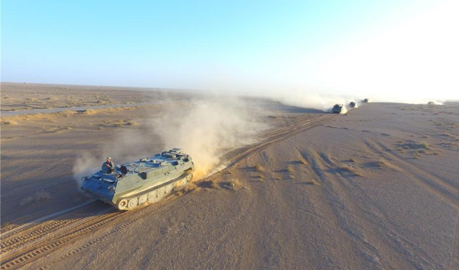 China's military stages air defense drill