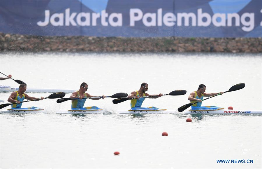 Kazakhstan claims title of men's Kayak Four (K4) 500m at Asian Games