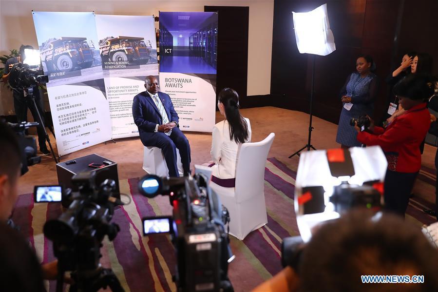 Botswana's president receives interview in Beijing