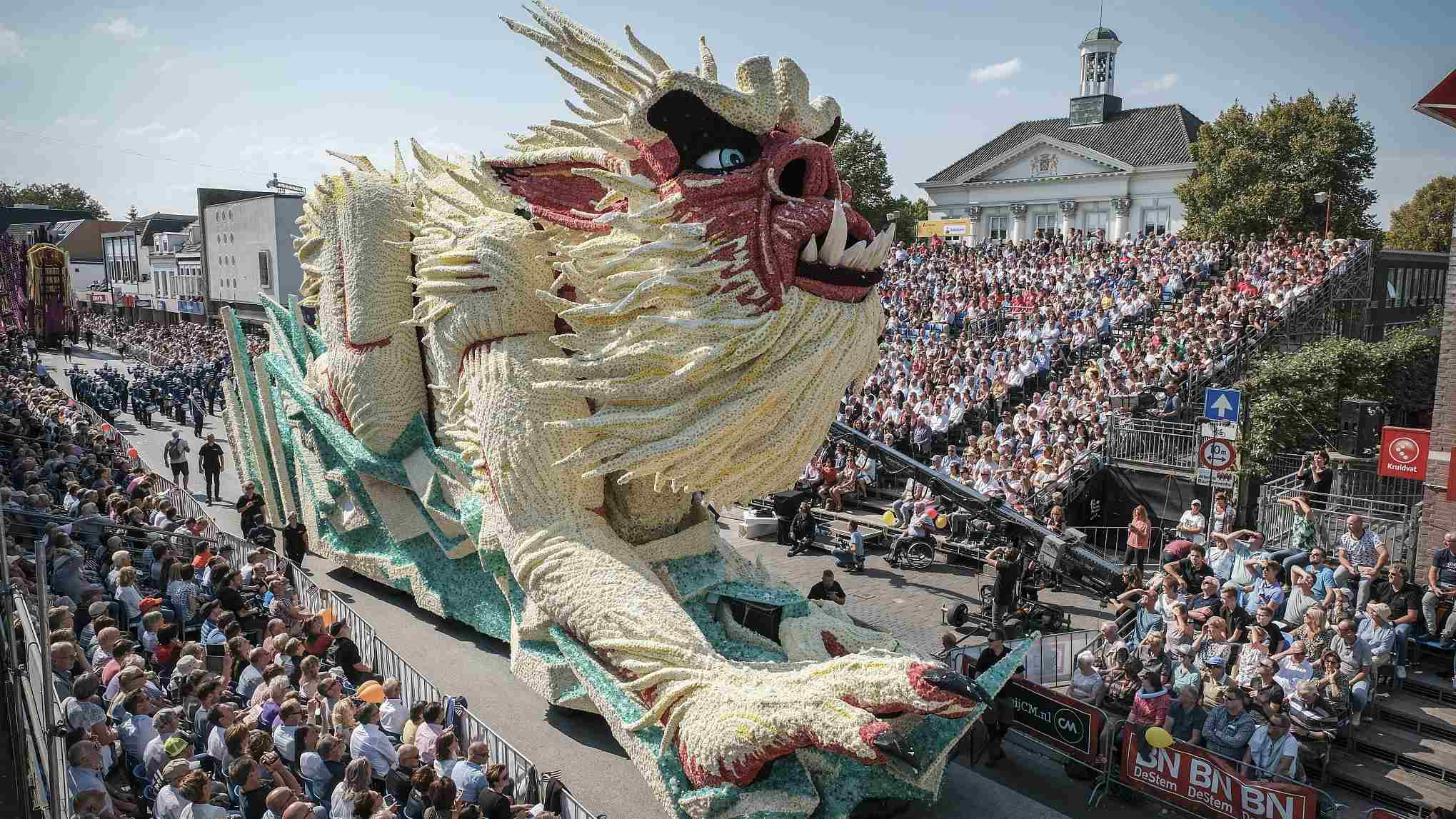 Annual flower parade adds touch of color to Dutch village