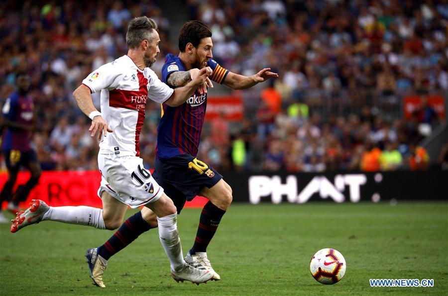 FC Barcelona beats S.D. Huesca 8-2 in Spanish league match