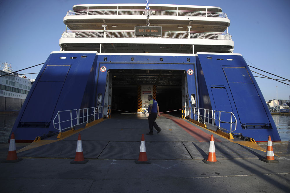 Greek ferries laid up as sailors strike for more pay