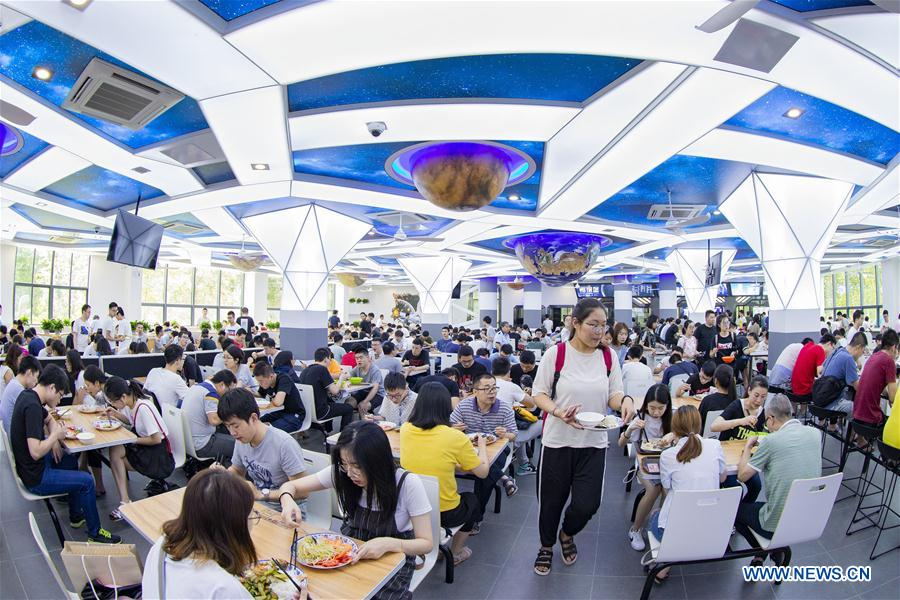 In pics: new dining hall in Nanjing University of Aeronautics and Astronautics
